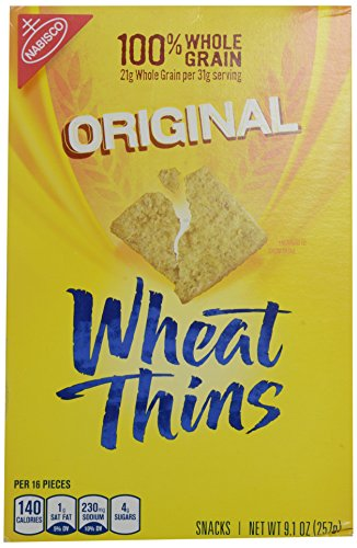 Wheat Thins Baked Snack Crackers, Original, 9.1 oz (Wheat Cheese Crackers compare prices)