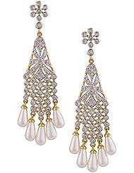 Swasti Jewels American Diamond CZ Zircon Gold Plated Fashion Jewellery Earrings For Women
