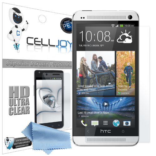 Celljoy Htc One M7 2013 (Not One X One S) Premium High Definition (Hd) Ultra Clear (Invisible) Screen Protectors With Lifetime Replacement Warranty [5-Pack] - Retail Packaging