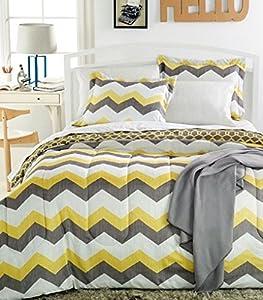 Sunham Chevron 6 Piece Twin XL Bedding Ensemble Comforter Set