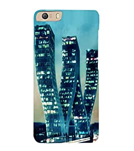 printtech W Shaped Building Back Case Cover for Micromax Canvas Knight 2 E471
