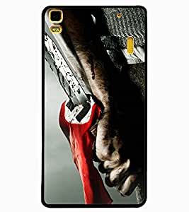 ColourCraft Knife Design Back Case Cover for LENOVO K3 NOTE