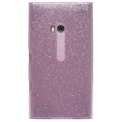 diztronic pink glitterflex flexible tpu case for nokia lumia 900 at t