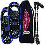 RedFeather Men's HIKE 30 Inch Recreational Series Snowshoe Kit with SV2 Bindings, Ski Poles and Carry Bag - 157010KIT