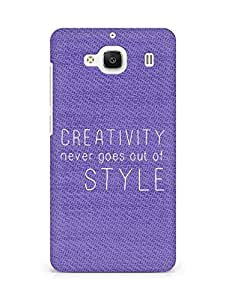 AMEZ creativity never goes out of style Back Cover For Xiaomi Redmi 2 Prime