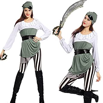 Women's Shipmate Sweetie Pirate Caribbean Wrench Fancy Dress Halloween Costume