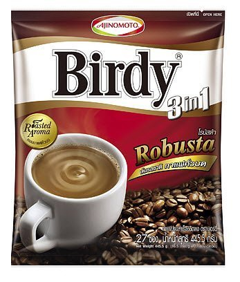Ajinomoto Birdy Robusta 3 In 1 Instant Coffee Mix Rosted Aroma Blend 30 Sticks Best Product From Thailand