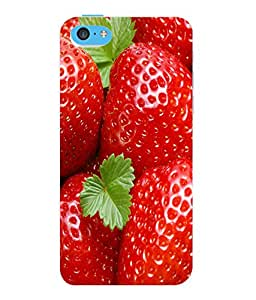 Fuson 3D Printed Strawberry Wallpaper Designer Back Case Cover for Apple iPhone 5C - D810