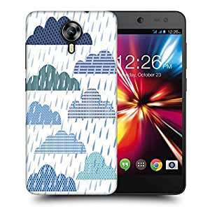 Snoogg Rain Fall Printed Protective Phone Back Case Cover For Micromax Canvas Nitro 4G
