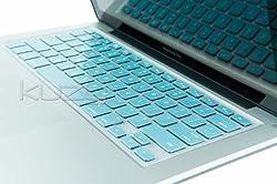 Kuzy - METALLIC AQUA BLUE Keyboard Silicone Cover Skin for MacBook / MacBook Pro 13