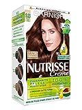 Garnier Nutrisse Creme Coloration Goldenes Rosé Braun 5.23 / Färbung für Haare für permanente Haarfarbe (mit 3 nährenden Ölen) - 3 x 1 Stück