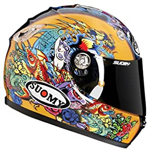 Suomy Vandal Tattoo Gold Helmet (Yellow Gold, Large)