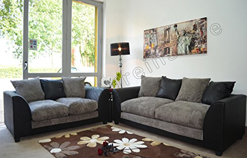 dylan-byron-black-and-grey-fabric-sofa-settee-couch-3-2-seater