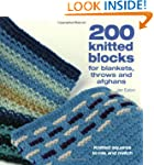 200 knitted blocks for blankets, thro...