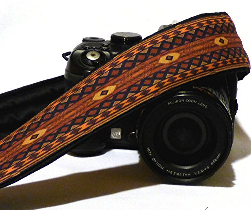 native-american-camera-strap-inspired-ethnic-camera-strap-southwestern-dslr-camera-strap-brown-camer