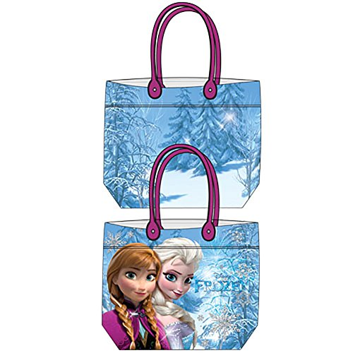 Disney Frozen Anna & Elsa Girls Beach Tote Bag - Blue Pink