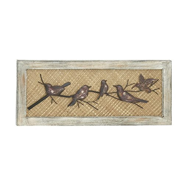 Vertical Metal Wall Decor : Birds wood metal wall decor vertical