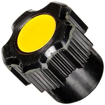 "DimcoGray Black Phenolic Fluted Torque Knob Female, Brass Insert: 3/8-16"" Thread x 1/2"" Depth, 1"" Diameter x.9 Height x .750 Hub Dia x .438 Hub Length (Pack of 10)"