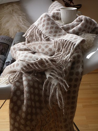 Caramel Alpaca Wool Throw Egidio
