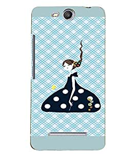 PRINTVISA Cute Girl Case Cover for Micromax Canvas Juice 3 Q392
