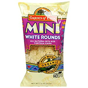 Garden of Eatin' Tortilla Chips, Mini White Rounds, 7.5 Ounce (Pack of 12)