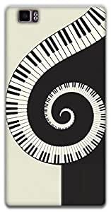 The Racoon Grip Piano Swirl hard plastic printed back case / cover for Lenovo K900