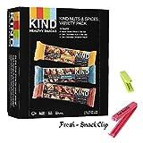 KIND Fruit & Nut, Variety Pack of 9 AssortedFlavors,(Pack of 12) Plus Bonus Snack-Fresh Clip.