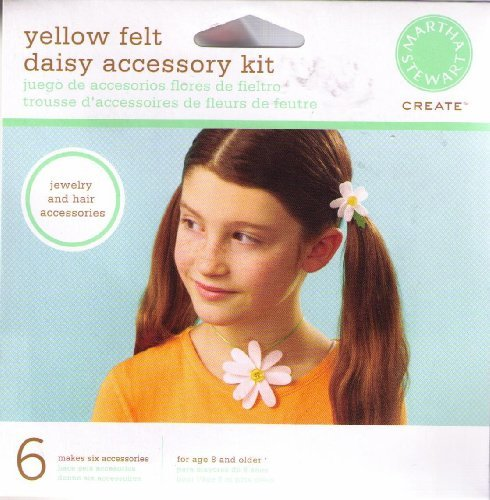 Martha Stewart Create Yellow Felt Daisy Accessory Kit