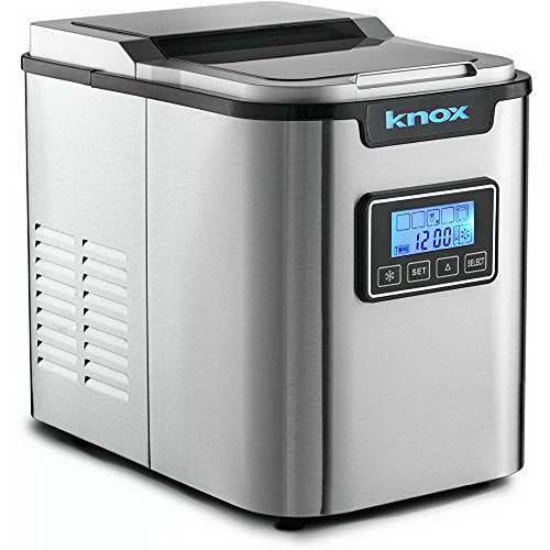 Knox Portable Stainless Steel Ice Maker w/ LCD Display, 27 Pounds of Ice Daily (Copper Freeze Plug compare prices)