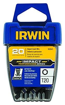 IRWIN 1899945 Impact Performance Series Screwdriver Insert Bit, T20 Torx, 1-Inch