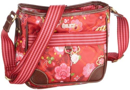 Oilily OCB0207 S Shoulderbag, Damen Schultertaschen, Rot (Ruby 2000), 20 X 8 X 19 cm (B x H x T)