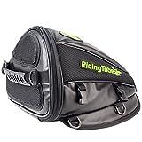 【Riding Tribe】バイク用シートカウル型 ポーチ シート バッグ(ブラック)