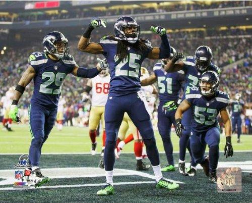 "Richard Sherman Seattle Seahawks 2014 NFC Championship Celebration Photo (Size: 8"" x 10"")"