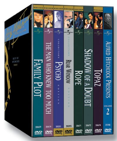 The Alfred Hitchcock Collection: The Best of Hitchcock, Vol. 1 (Psycho / Rear Window / Shadow of a Doubt / The Man Who Knew Too Much (1956) / Rope / Topaz / Family Plot / Alfred Hitchcock Presents Vol. 2)