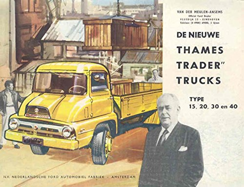 1958 Ford Thames Trader Truck Sales Brochure Dutch (Truck Trader compare prices)