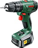 Bosch PSB 1800 LI-2 Cordless Lithium-Ion Hammer Drill Driver with 1 x 18 V Battery, 1.5 Ah