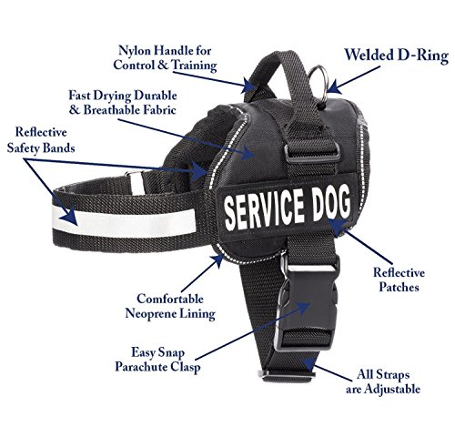 Service Dog Vest Harness with 2 Reflective