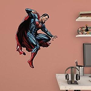 Fathead Batman vs. Superman - Attacking Superman Junior Wall Decal at Gotham City Store