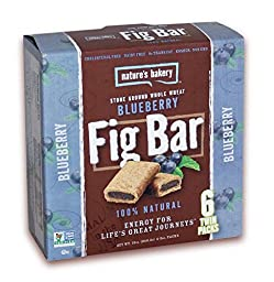 Nature\'s Bakery Whole Wheat Fig Bars: Blueberry 6-ct (Pack of 4)