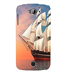 Ship in the Sea 3D Hard Polycarbonate Designer Back Case Cover for Acer Liquid Zade Z530 :: Acer Liquid Zade Z530S