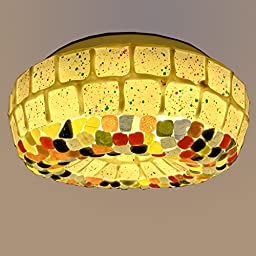 Miá Led Bedroom Ceiling, Tiffany Glass Lamp (SMD LED light source containing, 30 CM)