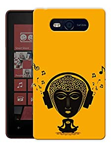 """Humor Gang Tripping Buddha - Buddhist God Printed Designer Mobile Back Cover For """"Nokia Lumia 820"""" (3D, Matte, Premium Quality Snap On Case)"""