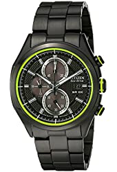 Citizen Men's Drive from Citizen Eco-Drive CA0435-51E HTM 2.0 Black Ion Plated Stainless Steel Chronograph Watch