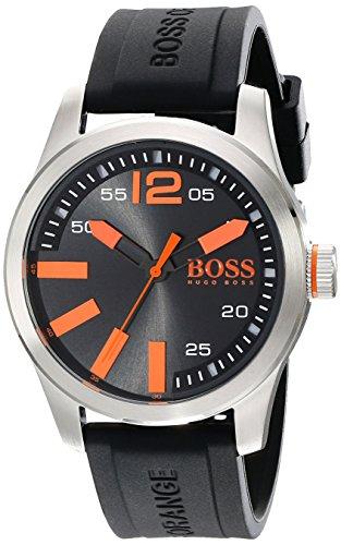 Hugo Boss Orange 1513059 44mm Stainless Steel Case Black Silicone Mineral Men's Watch