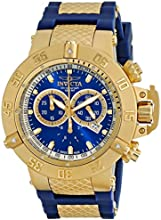 Invicta Subaqua Men's Quartz Watch with Blue Dial Chronograph Display and Blue PU Strap 5515