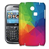 Phone Case For Samsung Ch@t 335 - Rainbow Geometric Shapes Protective Premium