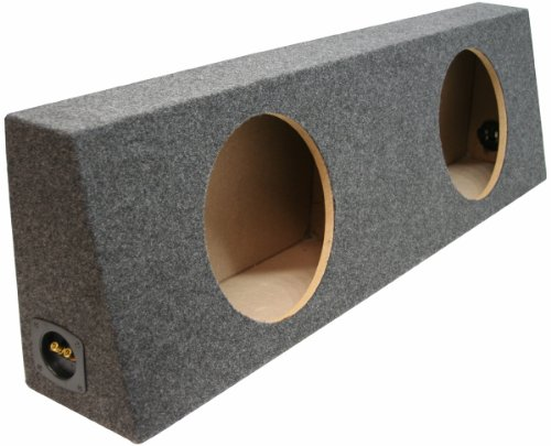 "Asc Dual 12"" Subwoofer Universal Regular Standard Cab Truck Sealed Sub Box Speaker Enclosure"