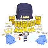 Disaster Preparedness Kit - 3 Day 2 Person Emergency Survival for Earthquake, Hurricane, Tornado, Flood, Fire - Exceeds Red Cross Specs - Home, Car, Office, School or College Grab n Go Backpack - Basic Bug Out Bag - Repels Zombies - 100% Guaranteed