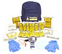 Emergency Survival Kit - 3 Day 2 Person Disaster Preparedness for Earthquake, Hurricane, Tornado, Flood, Fire - Exceeds Red Cross Specs - Home, Car, Office, School or College Grab n Go Backpack - Basic Bug Out Bag - Repels Zombies - 100% Guaranteed