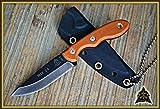 """TPMSK25 Fixed Tops Mini Scandi Knife 6 1/8"""" Over 2 3/4"""" 1095 High Carbon Steel B"""